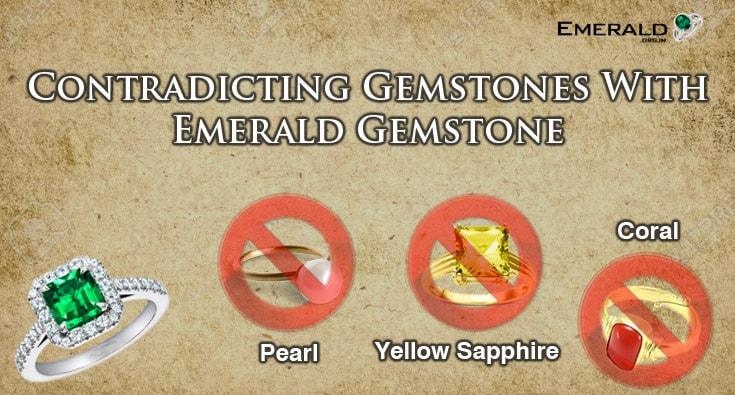Contradicting Gemstones with Emerald Gemstones